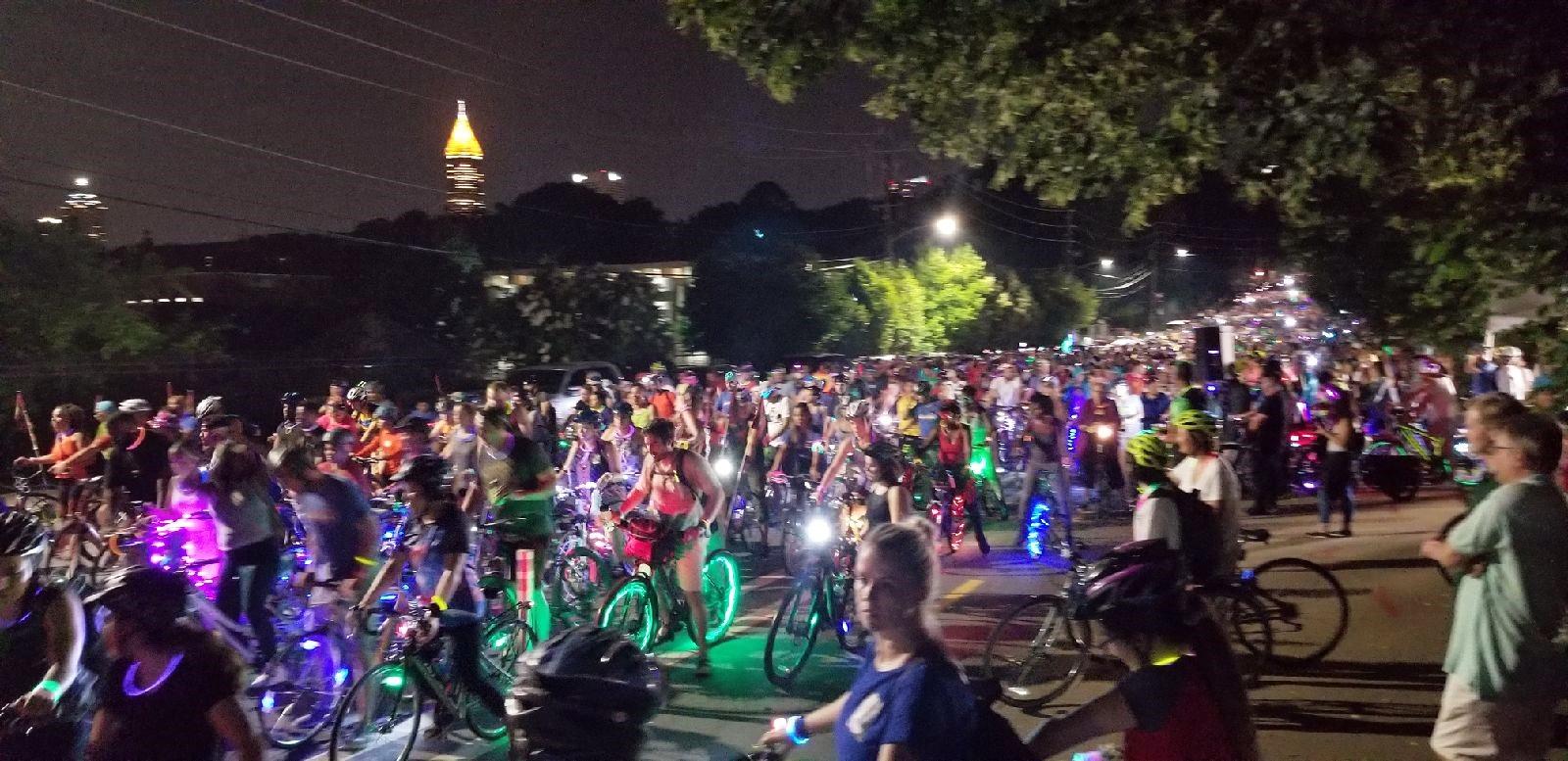 Atlanta moon ride jumbotron