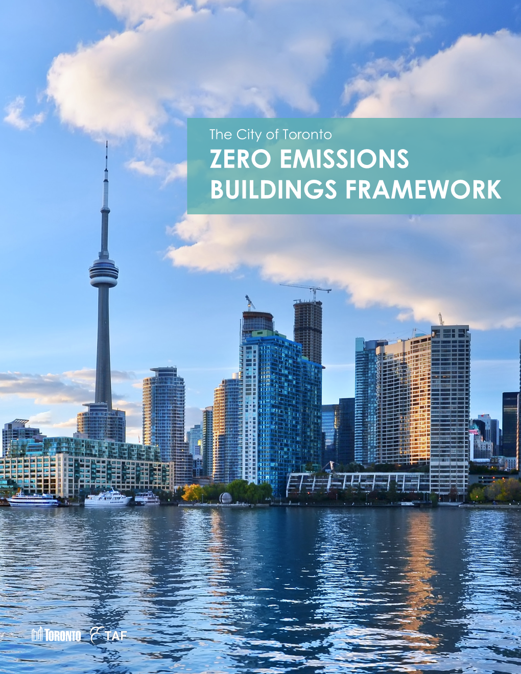 Cover from Zero Emissions Buildings Framework Report