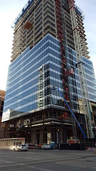 111 South Main Curtain Wall Install Salt Lake City