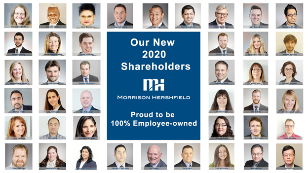 2020 New Shareholders - Morrison Hershfield