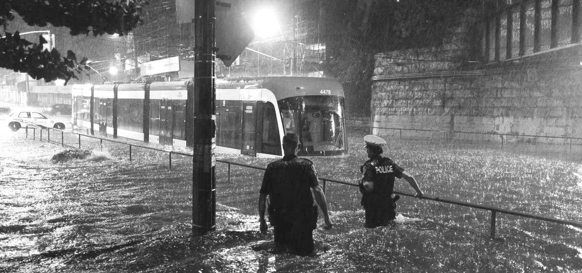 TTC Flooded streetcar-1